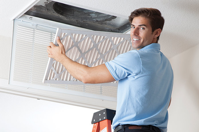 Changing air filter in home